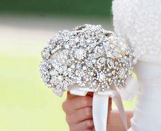 Rhinestone Brooch Wedding Bouquet Alternative by sunshineandvodka, $100.00