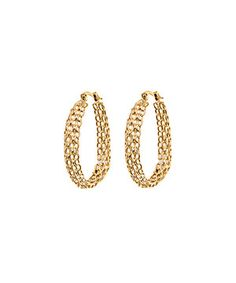 Look at this #zulilyfind! Gold Layered Link Hoop Earrings by Sevil Designs #zulilyfinds