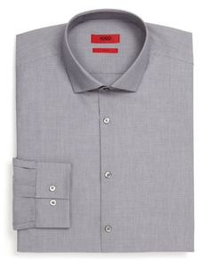 Hugo Easton X Small Check Dress Shirt - Slim Fit