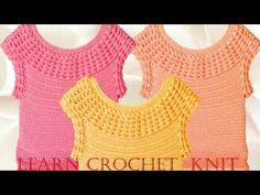 Blusa a crochet cuello v en punto original - Learn How to Crochet - YouTube
