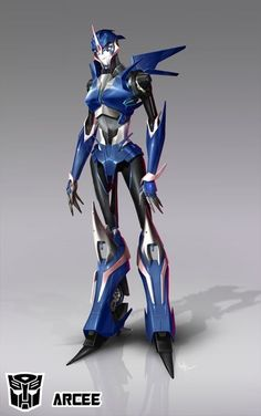 Transformers Prime arcee is The hottest bot on two wheels and a mother figure to jack