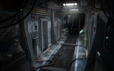 Image result for abandoned spaceship interior