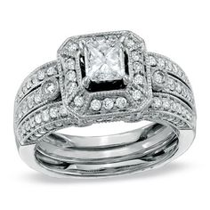 Zales This ring and enhancer are gorgeous !