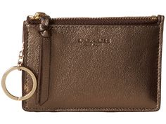 Get the lowest price on Coach 52110 Bleecker Dark Gold Leather Mini Skinny Wallet and other fabulous designer clothing and accessories! Shop Tradesy now Skinny Wallet, Front Pocket Wallet, Coach Wallet, Gold Leather, Discount Shoes, Mini, Bags, Accessories, Gold Gold