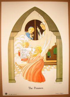"""""""The Seven Sacraments"""" Vintage Prints – J. Gouppy, Belgium - Penance  Google Search"""