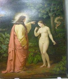 Paul Carpentier (1787-1877) La Création d'Ève, 1835 Cire sur toile - 283 x 234 cm Rouen, Musée des Beaux-Arts