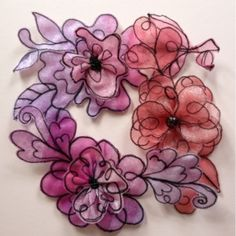 Kathleen's Organza Extrav-Organza: Quick and easy scrap organza flowers
