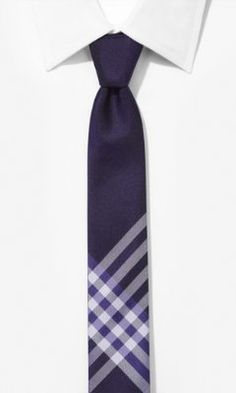 SKINNY SILK TIE - 2-IN-1 REVERSIBLE from EXPRESS