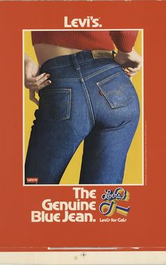 An original Levis for Gals campaign from the 7 - Retro Ads, Vintage Advertisements, Vintage Ads, Vintage Prints, Ripped Denim, Cropped Denim Jacket, Denim Overalls, Denim Jackets, Womens Fashion Online
