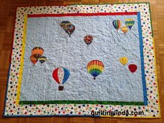 Quilting Linda - another Hot Air Balloon quilt