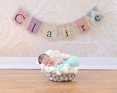 Vintage Personalized Burlap Banner Bunting Pennant by KyliesChicBoutique, $18.00