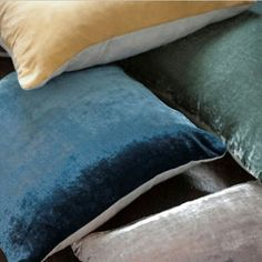 The Linen Works Silk Velvet Cushion Velvet Cushions, Soft Furnishings, Home Collections, Contemporary Furniture, Product Design, Design Projects, Bed Pillows, Cool Designs, Healing