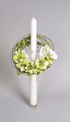 Smithers Oasis Bemutató - Franky Bollingh Modern Floral Design, Baptism Candle, Corporate Flowers, Charts For Kids, Candle Centerpieces, Scented Candles, Flower Decorations, Flower Art, Flower Power