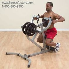 Body-Solid Seated Row Machine  This is the tool of the trade for building depth in the middle back and training the hard to reach lower lats. Our uniquely designed Seated Row Machine is fully adjustable to fit all size users.