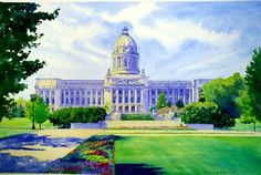 Kentucky State Capitol by Susan Wilhoit - Learn from her during Watercolor Weekend at the Community Arts Center in Danville, Ky!