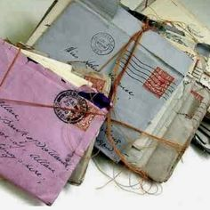 send one hand written letter a month to a friend or family member