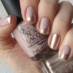 In love with this blush & rose gold mani from @saritloveslife. See this look & more nail ideas when you click the link in our bio. #Manicure #Nails #NailIdeas #RoseGold