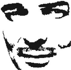 Clark Gable Counted Cross Stitch Pattern