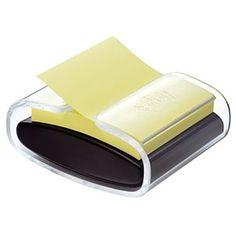 Post-it Pro Z-Note Dispenser Black PRO-B-1SSCY-R330 Sticky Pads, Zip Around Wallet, Note, Black, Black People
