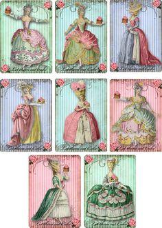 Vintage Marie Antoinette Let Them Eat Cake Stationery Set 8 with Organza Bag   eBay