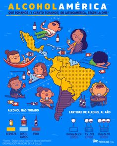 Alcohol consumption in South America Science Facts, Fun Facts, Ap Spanish, Interesting Topics, Interesting Stuff, Inspirational Phrases, Sociology, Zine, South America