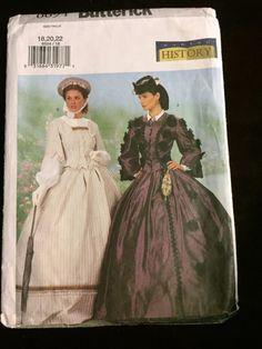 Ladies Butterick Costume Pattern Civil War by HeritageFashionsVA