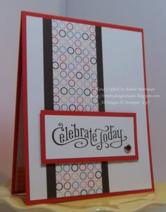 Just Add Cake dsp with Perfectly Penned & Stripes embossing folder. Thanks Robin!