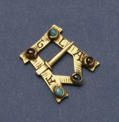 13th century gold prayer brooch.