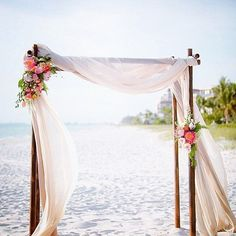 This is the primary example of what we want for the wedding arch. From: simple beach wedding arch Wedding Arch Flowers, Floral Wedding, Wedding Arch Tulle, Cyprus Wedding, Boho Beach Wedding, Beach Wedding Signs, Arco Floral, Floral Arch, Simple Beach Wedding