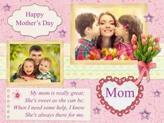 Mother's Day Greeting Card Template Download Free in CorelDraw and Ms-Word File Format.