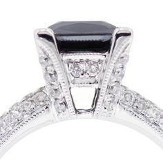 black engagement ring   Black Diamond Engagement Ring   Flickr - Photo Sharing!