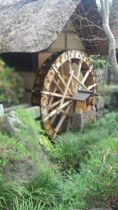 water wheel at Jindaiji Temple