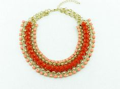 Linked Chain Choker Necklace Bib Chunky Necklace by eBijoux, $10.99