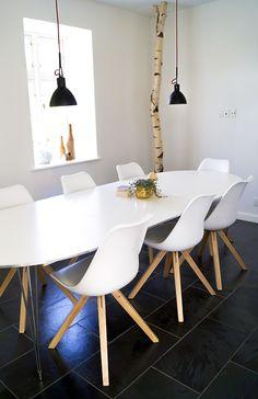 diningroom, black, white and wood, scandinavian, scandistyle, interior