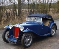 1938 MG TA British Sports Cars, Classic Sports Cars, Classic Cars, Retro Cars, Vintage Cars, Jaguar, Automobile, Mg Cars, Roadster
