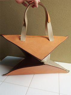 Issey Miyake folding bag   #origami inspired