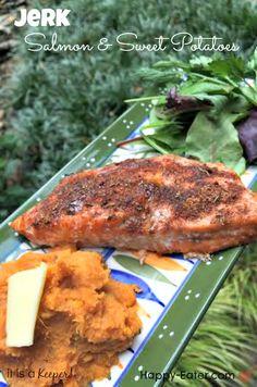 jerk salmon and sweet potatoes- Hero - It is a keeper