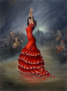 Choose your favorite flamenco dancer paintings from millions of available designs. All flamenco dancer paintings ship within 48 hours and include a money-back guarantee. Spanish Dancer, Spanish Woman, Spanish Art, Spanish Style, Shall We Dance, Just Dance, Yoga Pilates, Dance Paintings, Oil Paintings