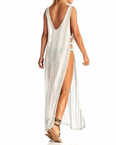 Vitamin A Tradewind Long Textured-Strip Coverup Source by AviveyStyle coverups Cool Summer Outfits, Cute Summer Dresses, Swimwear Cover Ups, Swimsuit Cover Ups, Kimono Beach Cover Up, Beach Kimono, Trunks Swimwear, Swim Trunks, Full Body Swimsuit