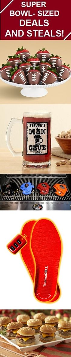 Super 'GMA' Deals and Steals for the Big Game - A Grill Cleaning Robot, Heated Insoles,Mini Burgers, Buffalo Chicken Spring Rolls and Mini Haute Dogs, Hand-Dipped Football Strawberries and Personalized Beer Mugs!