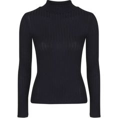 TOPSHOP Ribbed Funnel Neck Top ($28) ❤ liked on Polyvore featuring tops, sweaters, shirts, black, topshop tops, funnel neck sweater, rib sweater, black sweater and topshop sweaters
