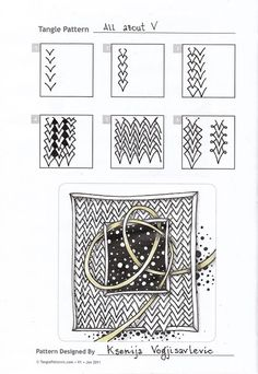 Zentangle doodles how to Tangle: Pattern Tutorial Zentangle Steps Tangle Doodle, Tangle Art, Zen Doodle, Doodle Art, Zentangle Drawings, Doodles Zentangles, Doodle Drawings, Doodle Patterns, Zentangle Patterns