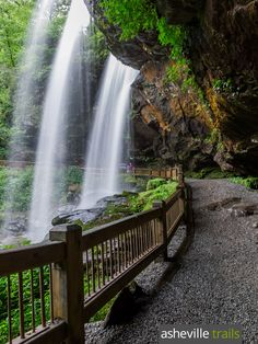 Hike the Dry Falls Trail to a gorgeous walk-behind waterfall near Highlands, NC