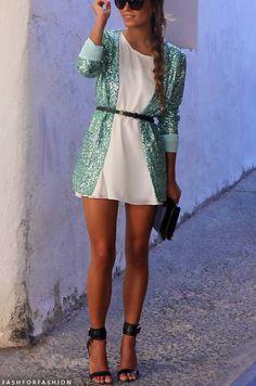 Vestido con brillos