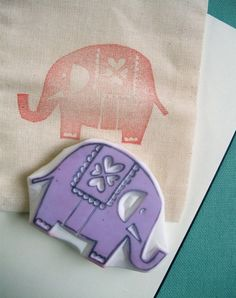 rubber stamp - ELEPHANT