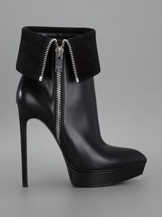 SAINT LAURENT - fold-over stiletto boot 7