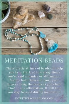 These gorgeous strings of beads help you stay focused during meditation. Learn the full scoop at intuitivesoulsblog.com