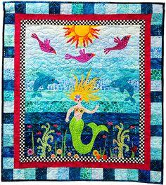 Square 6: The Elegant Mermaid | Quilting ideas, Quilt blocks and ... : mermaid quilts - Adamdwight.com