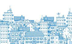 City Drawing Royalty Free Stock Vector Art Illustration