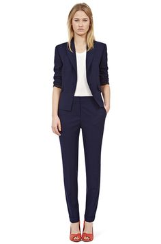 Stylish Office Wear from Reiss: Solita-Sun Cropped Formal Jacket.